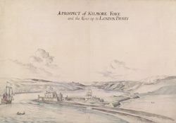 A Prospect of Kilmore Fort and the River up to London Derry